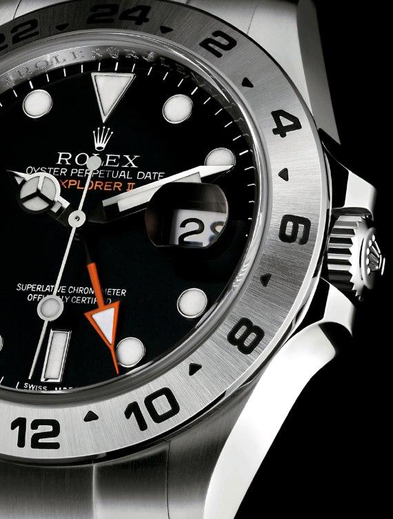 2011-Black-Explorer-II-Orange-Hand