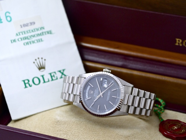 rolex-day-date-ref.-18239-in-18k-white-gold-papers-bj.-1990.-1990-e