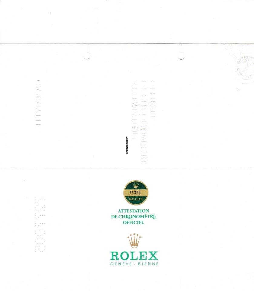 Rolex Kleine Zertifikatenkunde