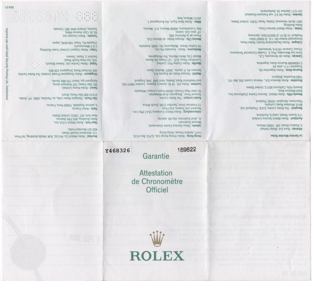 Rolex – kleine Zertifikatenkunde