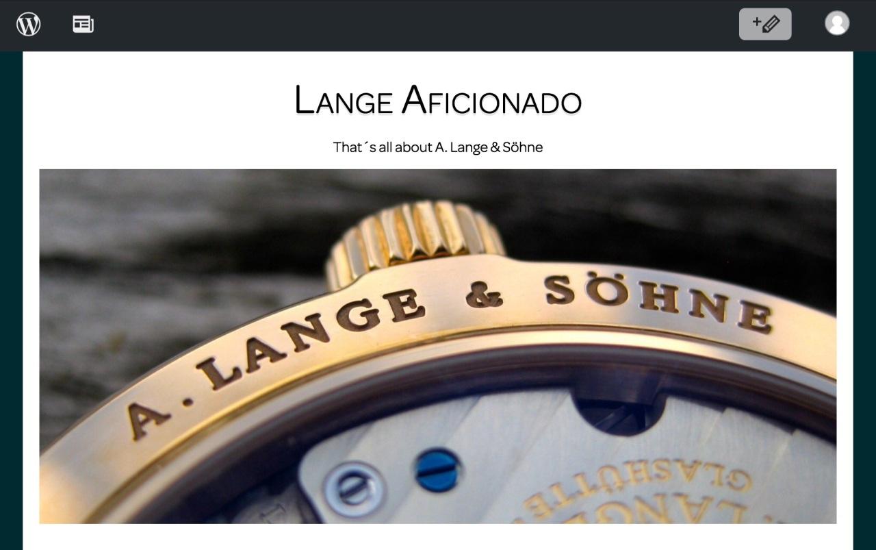 Lange Aficionado – That's all about A. Lange &Söhne