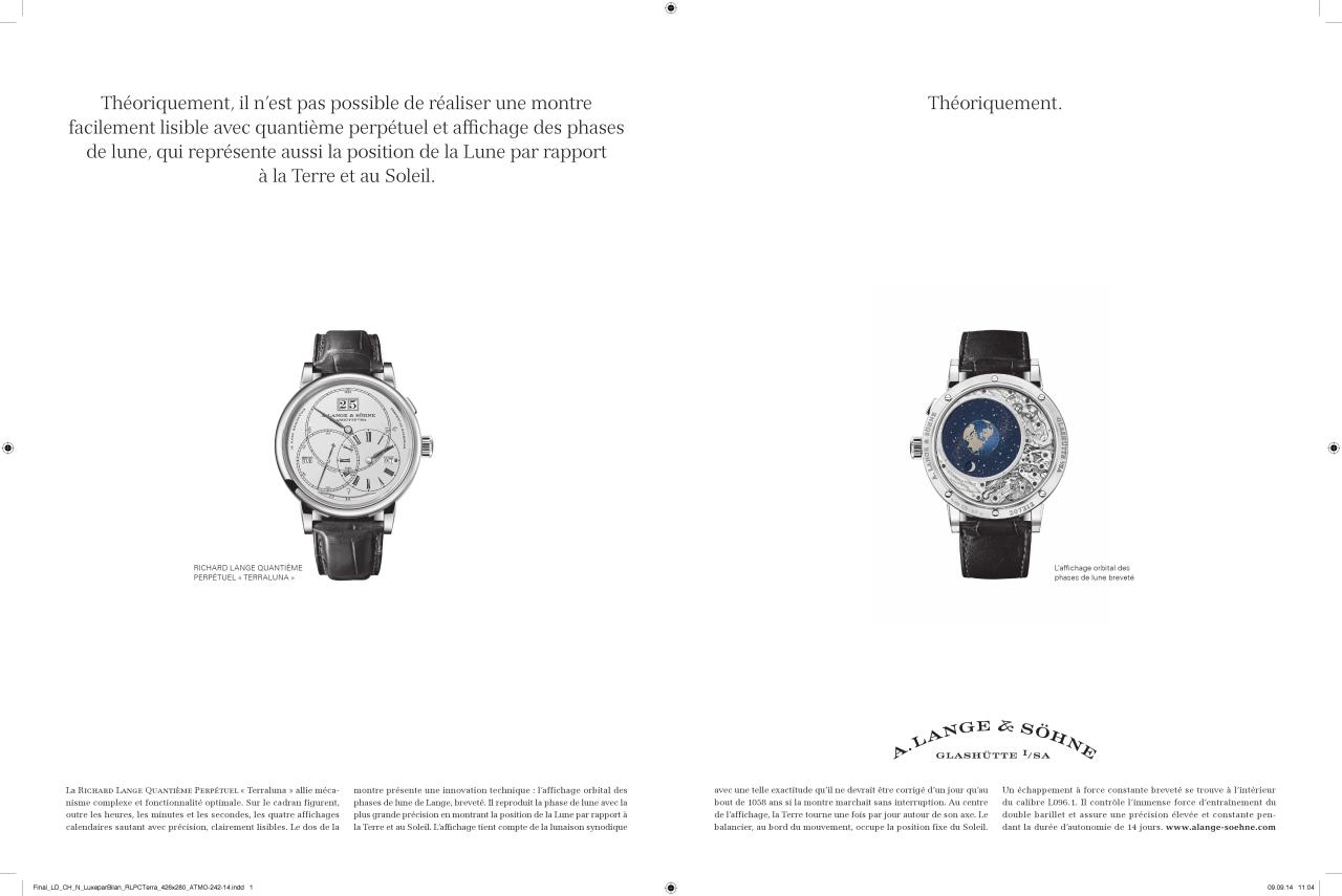 A. Lange & Söhne – Werbung im Wandel der Zeit – 2011 bisheute